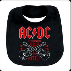 Babero ACDC guitars
