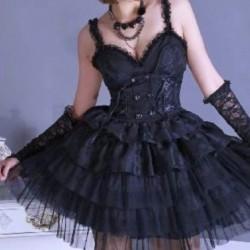 Vestido Gótico tirantes
