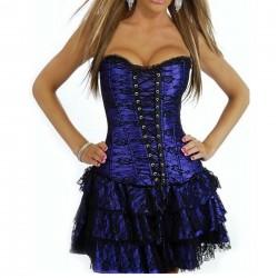 Vestido corset azul