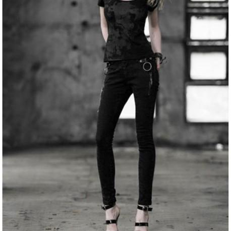 Jeans negros anillas